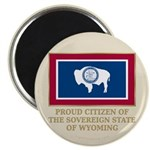 """Wyoming Proud Citizen 2.25"""" Magnet (100 pack)"""