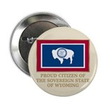 """Wyoming Proud Citizen 2.25"""" Button (10 pack)"""