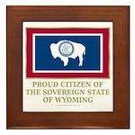 Wyoming Proud Citizen Framed Tile