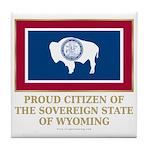 Wyoming Proud Citizen Tile Coaster