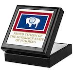 Wyoming Proud Citizen Keepsake Box