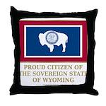 Wyoming Proud Citizen Throw Pillow