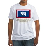 Wyoming Proud Citizen Fitted T-Shirt
