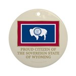 Wyoming Proud Citizen Ornament (Round)