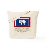 Wyoming Proud Citizen Tote Bag