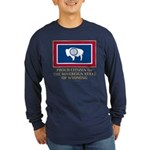 Wyoming Proud Citizen Long Sleeve Dark T-Shirt