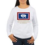 Wyoming Proud Citizen Women's Long Sleeve T-Shirt