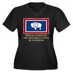 Wyoming Proud Citizen Women's Plus Size V-Neck Dar