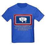 Wyoming Proud Citizen Kids Dark T-Shirt