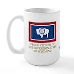 Wyoming Proud Citizen Large Mug