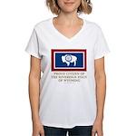 Wyoming Proud Citizen Women's V-Neck T-Shirt