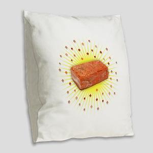 Brick Confetti Burlap Throw Pillow