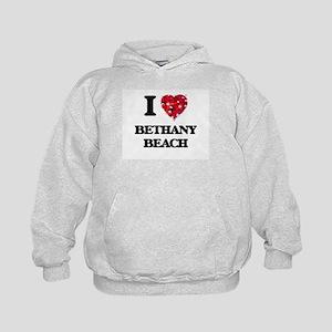 I love Bethany Beach Delaware Kids Hoodie