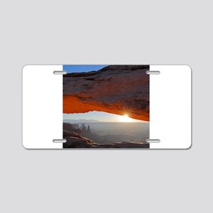 Sun Kissing Mesa Arch Aluminum License Plate