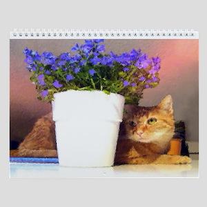 Cat Artwork On A Wall Calendar