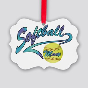Fastpitch Softball Mom Athletic Picture Ornament