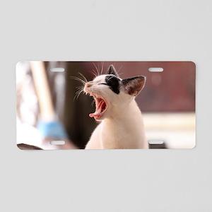 Cat Oil Painting Aluminum License Plate