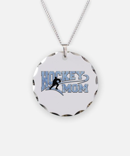 Hockey Mom Athletic Tail Necklace Circle Charm