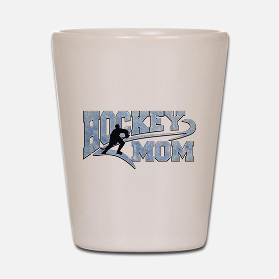 Hockey Mom Athletic Tail Shot Glass