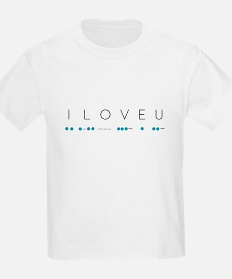 I Love You in Morse Code Alphabet T-Shirt