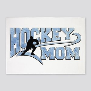 Hockey Mom Athletic Tail 5'x7'area Rug