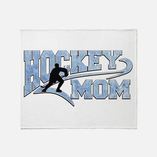 Hockey Mom Athletic Tail Throw Blanket