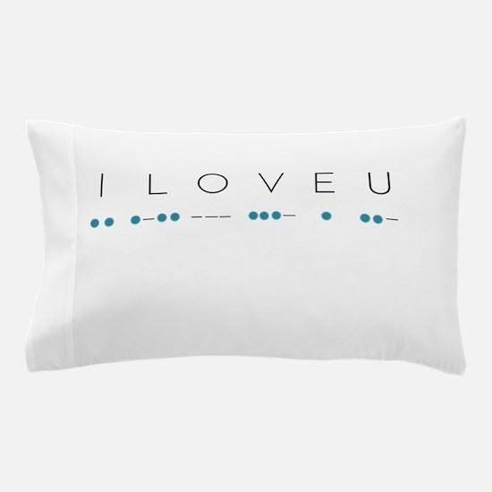 I Love You in Morse Code Alphabet Pillow Case