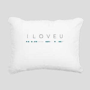 I Love You in Morse Code Rectangular Canvas Pillow