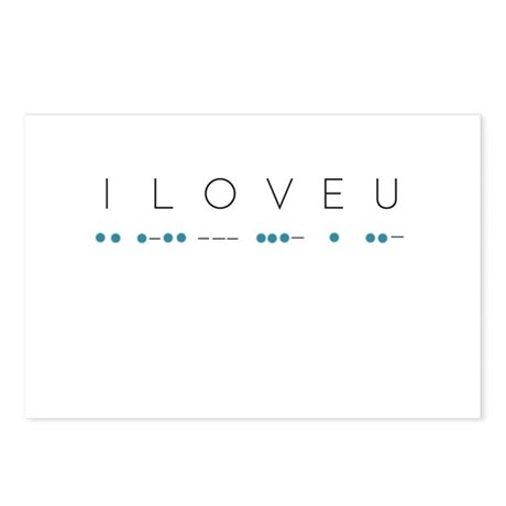 60th Anniversary Gifts >> I Love You in Morse Code Postcards (Package of 8) by ADMIN_CP132383943