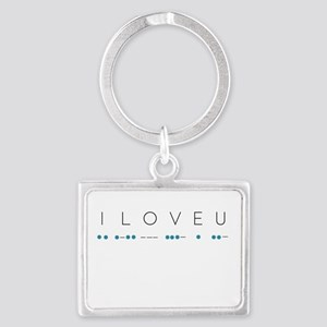 I Love You in Morse Code Alphabet Keychains
