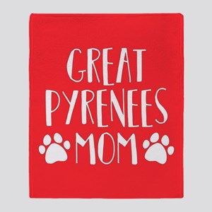 Great Pyrenees Mom Throw Blanket