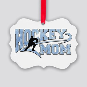 Hockey Mom Athletic Tail Picture Ornament
