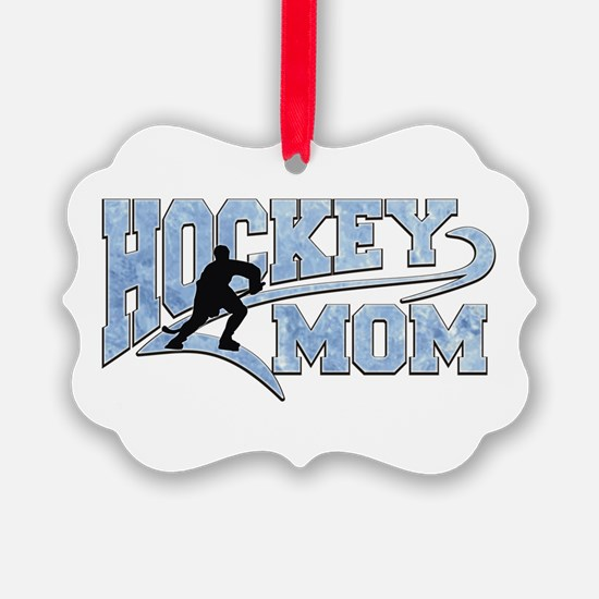 Hockey Mom Athletic Tail Ornament