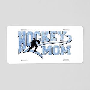 Hockey Mom Athletic Tail Aluminum License Plate