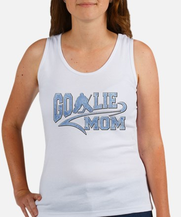 Hockey Goalie Mom Athletic Tail Tank Top