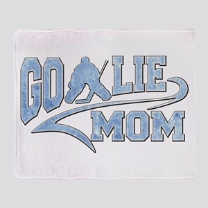 Hockey Goalie Mom Athletic Tail Throw Blanket