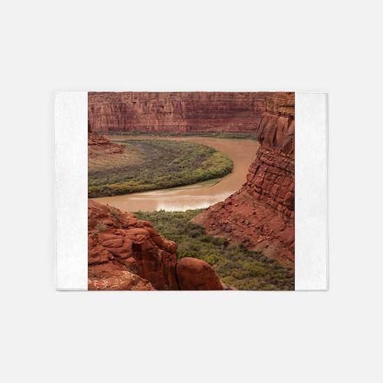 Colorado River Bend 5'x7'Area Rug