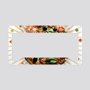 Pizza Party License Plate Holder