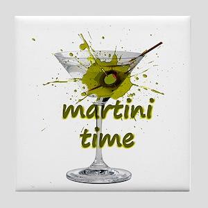 Martini Time Splash Tile Coaster