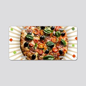 Pizza Party Aluminum License Plate