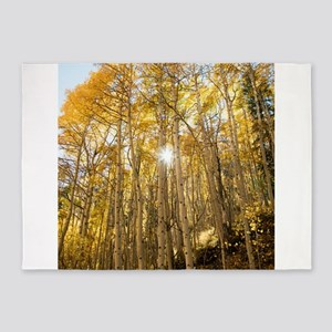 Aspens and Sunshine 5'x7'Area Rug
