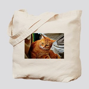 Cat Oil Painting Tote Bag