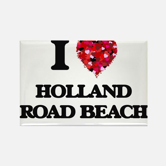 I love Holland Road Beach Michigan Magnets