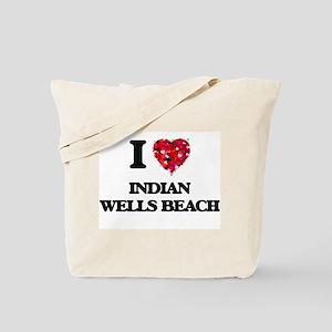 I love Indian Wells Beach New York Tote Bag
