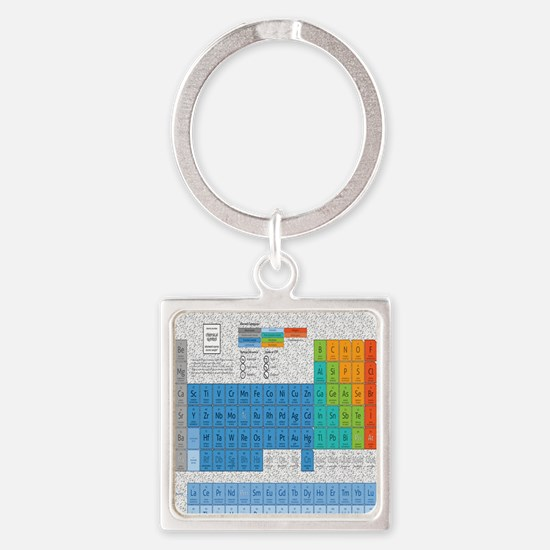 Periodical Table Of Elements Square Keychain