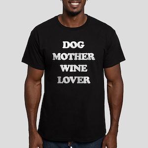 Dog Mother Wine Lover Men's Fitted T-Shirt (dark)