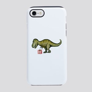 T-Rex Hates Opening Presents iPhone 8/7 Tough Case