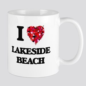 I love Lakeside Beach Michigan Mugs