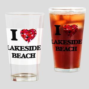 I love Lakeside Beach Michigan Drinking Glass