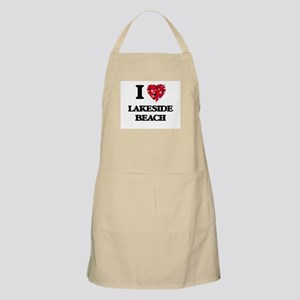 I love Lakeside Beach Michigan Apron